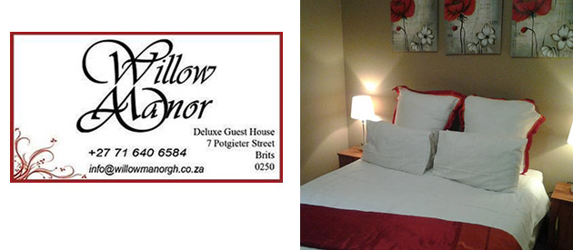 Willow Manor Guest House -Brits accommodation - North West